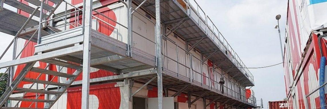 Grupa TLC na zapleczu budowy biurowca w Katowicach