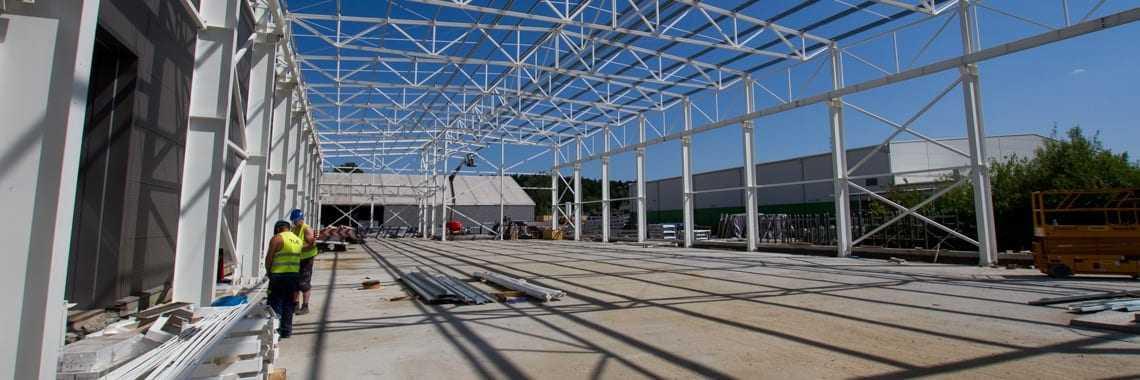 Fotorelacja z kolejnego etapu budowy hali produkcyjnej TLC Gorlice.