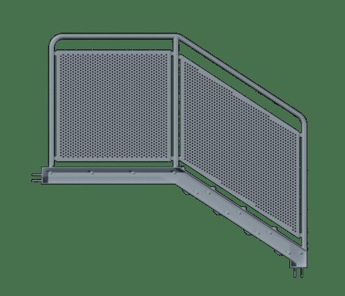 balustrada z blachy ryflowanej