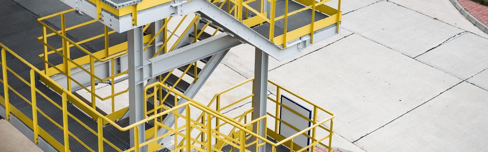schody stalowe wewnętrzne