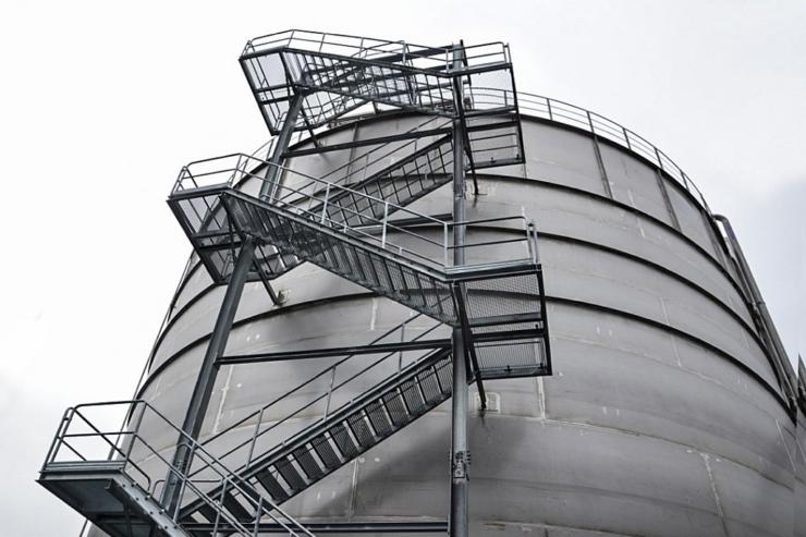 schody stalowe zewnętrzne