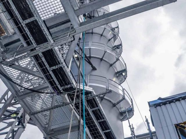 System komunikacji stalowe schody drabiny i klatki schodowe TLC dla cukrownia Pfeifer & Langen Polska