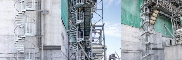 """Schody spiralne TLC wykorzystane w ramach projektu """"Safety Improvement"""""""