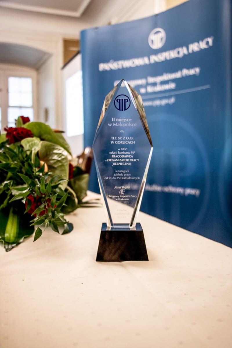 PIP nagroda dla TLC - Pracodawca – organizator pracy bezpiecznej