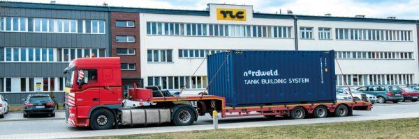 Nordweld Tank Building System w drodze do Belgii