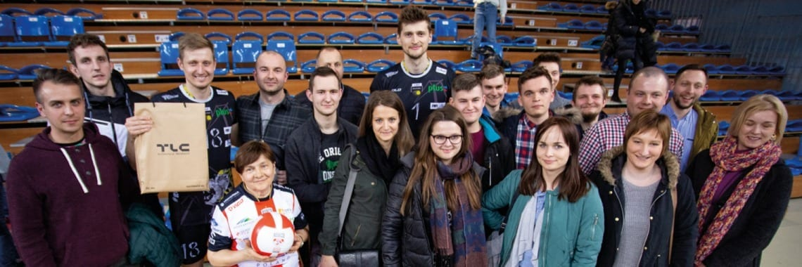 Reprezentacja TLC na meczu Asseco Resovia vs Trefl Gdańsk