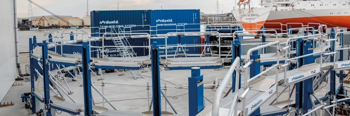 Nordweld Tank Building System pomaga wznieść zbiorniki w Belgii