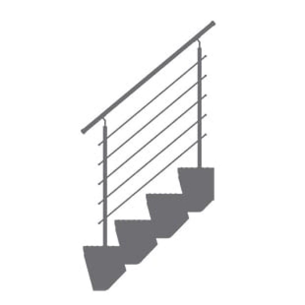 Barierki do schodów modułowych