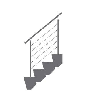 schody modułowe barierka
