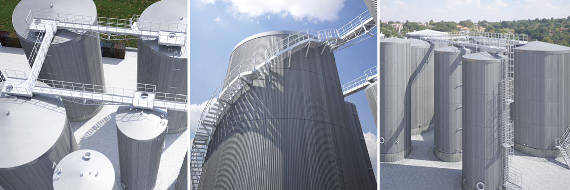 Stalowe systemy komunikacji dla zbiorników wielkogabarytowych produkcji TLC