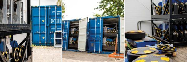 Urugwaj. Sprzęt do budowy zbiorników wielkogabarytowych przygotowywany jest do transportu