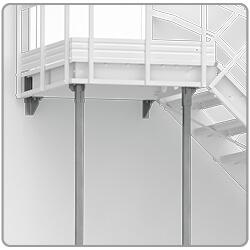 montaż schodów modułowych linea