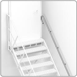 montaż schodów stalowych