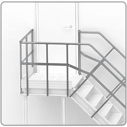 podest do schodów stalowych