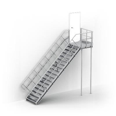 schody techniczne modułowe warianty