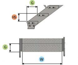 schody modułowe LINEA wymiary